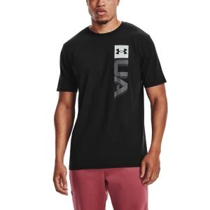 Men's Tennis Shirts Under Armour Boxed Wordmark TShirt  Black 13616750001
