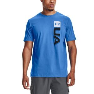 Men's Tennis Shirts Under Armour Boxed Wordmark TShirt  Brilliant Blue/Black 13616750787