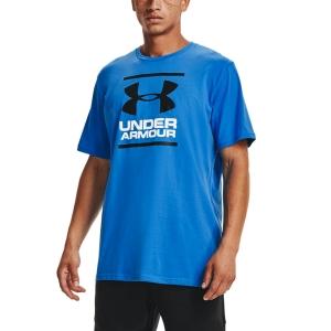 Men's Tennis Shirts Under Armour Foundation TShirt  Brilliant Blue/Black 13268490787