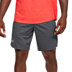 Pantalones Cortos Tenis Hombre Under Armour Knit Training 9in Shorts  Black/Mod Gray 13516410001