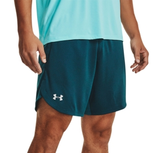 Men's Tennis Shorts Under Armour Knit Training 9in Shorts  Dark Cyan/Mod Gray 13516410463