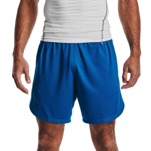 Pantalones Cortos Tenis Hombre Under Armour Knit Training 9in Shorts  Blue Circuit/Black 13516410436