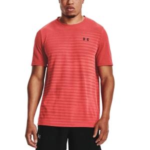 Men's Tennis Shirts Under Armour Seamless Fade TShirt  Venom Red/Black 13611330690