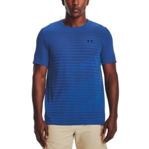 Men's Tennis Shirts Under Armour Seamless Fade TShirt  Blue Circuit/Black 13611330436