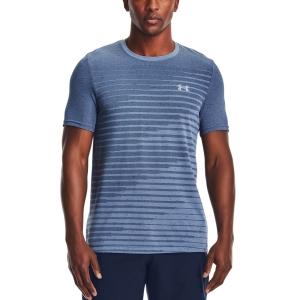 Men's Tennis Shirts Under Armour Seamless Fade TShirt  Mineral Blue/Mod Gray 13611330470