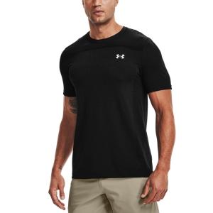 Men's Tennis Shirts Under Armour Seamless TShirt  Black 13611310001