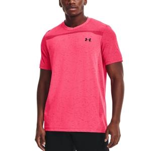 Men's Tennis Shirts Under Armour Seamless TShirt  Pink Shock/Black 13611310683