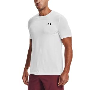 Men's Tennis Shirts Under Armour Seamless TShirt  White/Black 13611310100