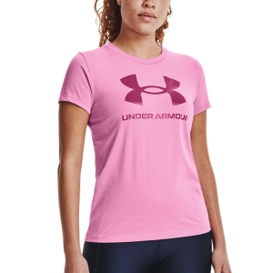 Women`s Tennis T-Shirts and Polos Under Armour Sportstyle Graphic TShirt  Planet Pink/Meteor Pink 13563050680