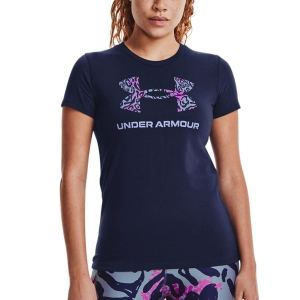 Camisetas y Polos de Tenis Mujer Under Armour Sportstyle Graphic Camiseta  Midnight Navy/Meteor Pink/Washed Blue 13563050410