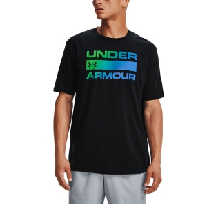Men's Tennis Shirts Under Armour Team Issue Wordmark TShirt  Black 13295820004