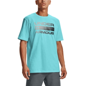 Men's Tennis Shirts Under Armour Team Issue Wordmark TShirt  Breeze/Pitch Gray 13295820441