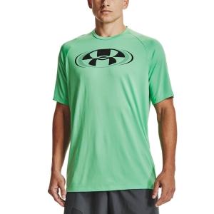 Men's Tennis Shirts Under Armour Tech 2.0 Circuit TShirt  Matcha Green/Black 13616990342