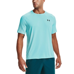 Camisetas de Tenis Hombre Under Armour Tech 2.0 Camiseta  Breeze/Black 13264130441
