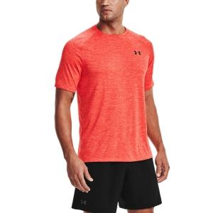 Men's Tennis Shirts Under Armour Tech 2.0 TShirt  Venom Red/Black 13264130690