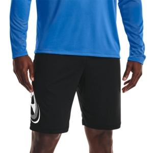 Men's Tennis Shorts Under Armour Tech Cosmic 10in Shorts  Black/White 13615090001