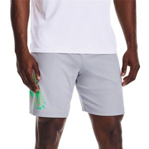 Men's Tennis Shorts Under Armour Tech Cosmic 10in Shorts  Mod Gray/Vapor Green 13615090011