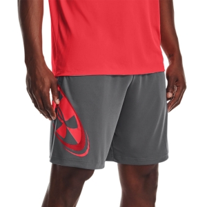 Men's Tennis Shorts Under Armour Tech Cosmic 10in Shorts  Pitch Gray/Beta 13615090012