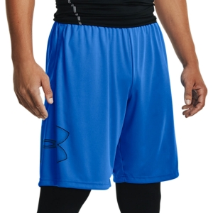 Men's Tennis Shorts Under Armour Tech Graphic 10in Shorts  Blue Circuit 13064430436