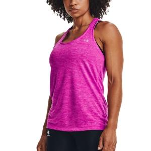 Women`s Tennis Tanks Under Armour Tech Twist Tank  Meteor Pink/Planet Pink/Metallic Silver 12754870660