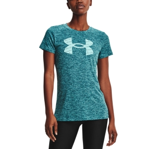 Camisetas y Polos de Tenis Mujer Under Armour Tech Twist Camiseta  Dark Cyan 13651420463