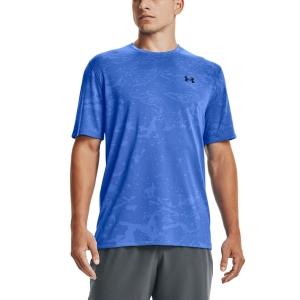 Men's Tennis Shirts Under Armour Training Vent Camo TShirt  Blue Circuit/Black 13615030436