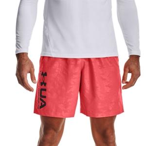 Men's Tennis Shorts Under Armour Woven Emboss 8in Shorts  Beta/Black 13614320628