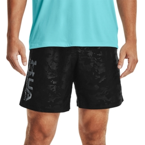 Men's Tennis Shorts Under Armour Woven Emboss 8in Shorts  Black/Pitch Gray 13614320001