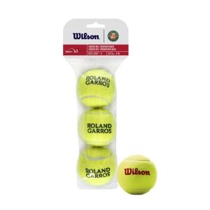Pelotas Tenis Wilson Wilson Roland Garros Starter Red (Stage 3)  Paquete de 3 Pelotas WRT147600