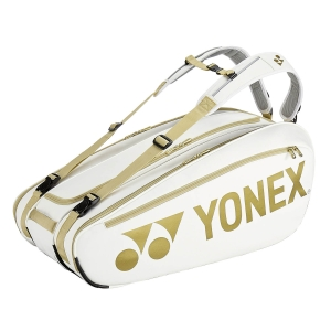 Tennis Bag Yonex Pro x 9 LTD Bag  White/Gold BAG02NNOEX