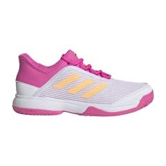 adidas Adizero Club Niña - Ftwr White/Acid Orange/Screaming Pink