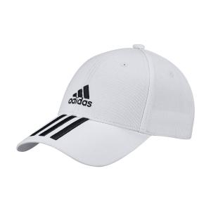 Tennis Hats and Visors Adidas Baseball 3 Stripes Cap  White/Black FQ5411