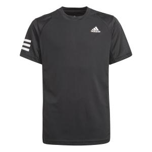 Tennis Polo and Shirts adidas Club 3Stripe TShirt Boy  Black/White GK8179