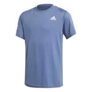 Polo y Camisetas de Tenis adidas Club 3Stripe Camiseta Nino  Crew Blue/White GK8178