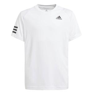 Tennis Polo and Shirts adidas Club 3Stripe TShirt Boy  White/Black GK8180