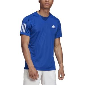 Men's Tennis Shirts Adidas Club 3 Stripes TShirt  Team Royal Blue GI9288