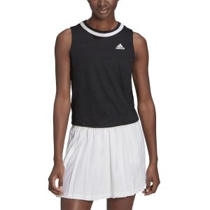 Canotte Tennis Donna adidas Club Knotted Canotta  Black/White GL5467