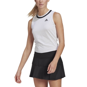 Canotte Tennis Donna adidas Club Knotted Canotta  White/Black GM5253