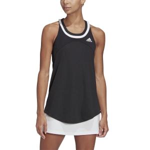 Women`s Tennis Tanks adidas Club Logo Tank  Black/White GH7235