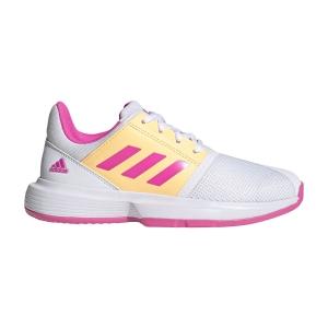 Scarpe Tennis Junior Adidas CourtJam Bambina  Ftwr White/Screaming Pink/Acid Orange FX1490