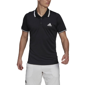 Men's Tennis Polo adidas Freelift Logo Polo  Black/White GL5340