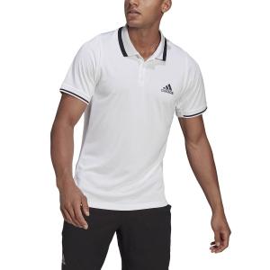 Men's Tennis Polo adidas Freelift Logo Polo  White/Black GH7606