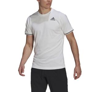 Men's Tennis Shirts adidas Freelift TShirt  White/Black GL5339