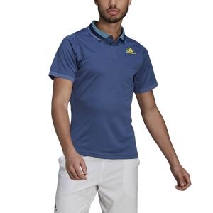 Polo Tennis Uomo adidas Freelift Primeblue Polo  Crew Blue/Acid Yellow GK9531