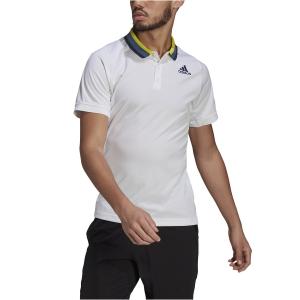 Polo Tennis Uomo adidas Freelift Primeblue Polo  White/Crew Navy GP5736