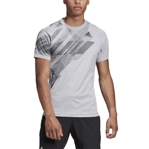 Camisetas de Tenis Hombre Adidas Freelift Printed Camiseta  Glory Grey/Powder Pink GG3745