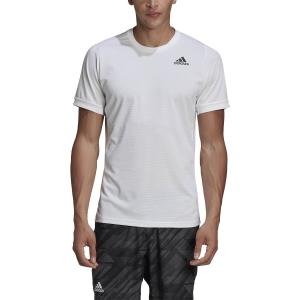 Men's Tennis Shirts Adidas Freelift Solid TShirt  White GH4569