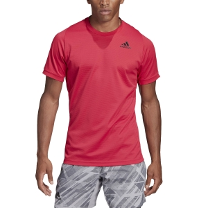 Camisetas de Tenis Hombre Adidas Freelift Solid Camiseta  Power Pink GH4570