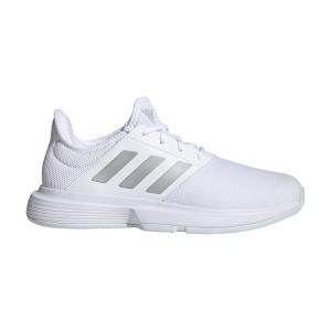 Calzado Tenis Mujer Adidas GameCourt  Ftwr White/Silver Metallic/Halo Blue FX1558