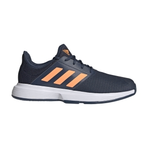 Scarpe Tennis Uomo Adidas GameCourt  Crew Navy/Screaming Orange/Ftwr White FX1555